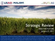 Malawi Feed the Future Strategic Review