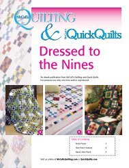 Dressed to the Nines - McCalls Quilting