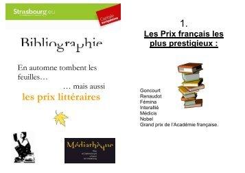 Prix littéraires - Médiathèques de la ville et de la communauté ...