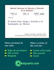 El doctor Juan Antiga y Escobar y la homeopatía ... - edigraphic.com