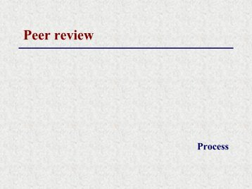 critcal peer review journal Sample peer-review of a fictitious manuscript reviewer a's comments to  authors: this is a prospective  the critical issues in this paper were not  addressed.