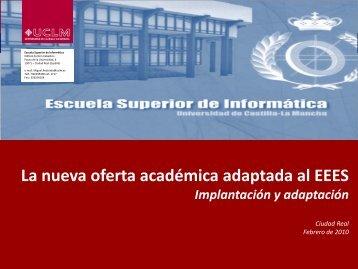 Presentación/Conferencia sobre nueva oferta académica de la ESI