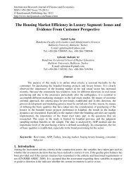 The Housing Market Efficiency in Luxury Segment ... - EuroJournals