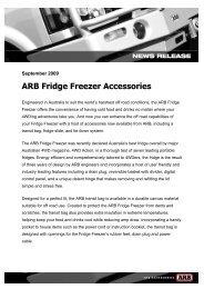 ARB Fridge Freezer Accessories