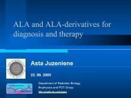 ALA and ALA-derivatives for diagnosis and therapy
