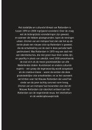 Het stedelijke en culturele klimaat van Rotterdam is tussen 1970 en ...