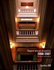 Rapport annuel de gestion 2006-2007 - Ministère du Conseil exécutif