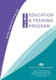 2012 education & training program - Family Planning NSW