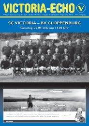 SC ViCtoria –– BV CloppenBurg - SC Victoria Hamburg