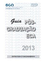 Guia da Pós Graduação ECA - 2013 - ECA-USP