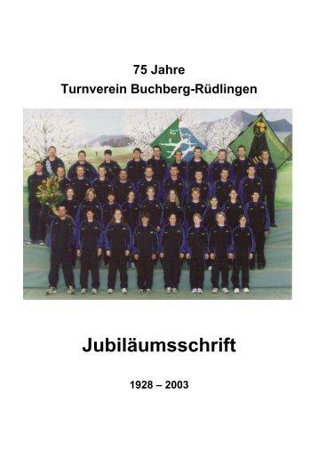 Festschrift 75 Jahre TV - TV Buchberg Rüdlingen