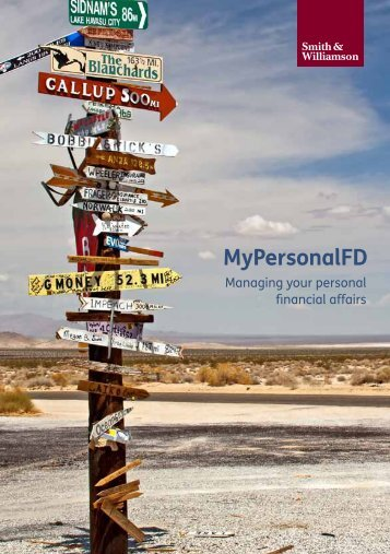 MyPersonalFD - What's in it for me? - Smith & Williamson