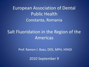 Salt Fluoridation in the Region of the Americas - European ...