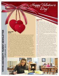 Parent Newsletter February 2012 - Tiffin University