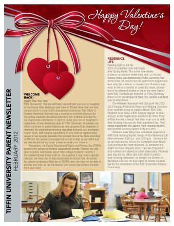 Parent Newsletter February 2012 - Tiffin University