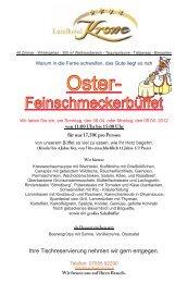 Oster - Feinschmecker Buffet