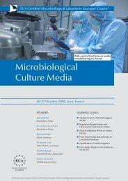 Microbiological Culture Media - European Compliance Academy