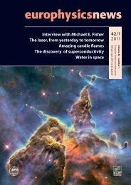 PDF (13.7 MB) - Europhysics News