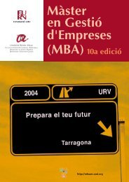 Màster en Gestió d'Empreses (MBA) - MBA-URV