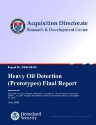 Heavy Oil Detection - Coastal Response Research Center