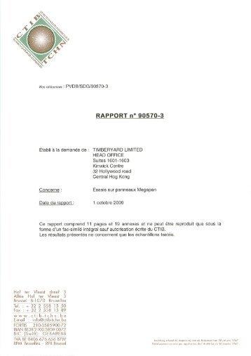 RAPPORT n° 90570-3