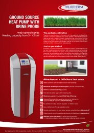 Leaflet ground source heat pump with brine probe - Heliotherm