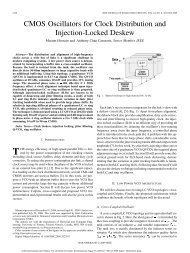 CMOS Oscillators for Clock Distribution and Injection-Locked Deskew