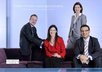 New Partner Announcement July 2010 - Gilbert + Tobin