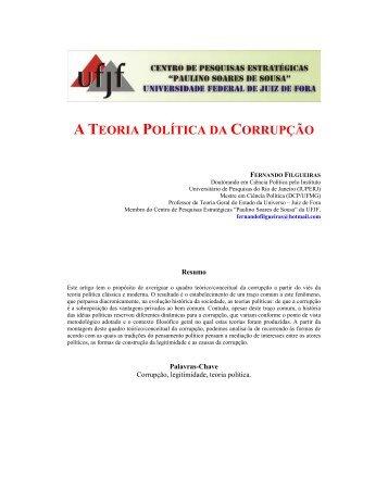 A TEORIA POLÍTICA DA CORRUPÇÃO - UFJF /Defesa