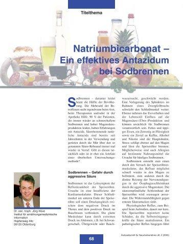 Heft 02 - Zentralverband der Ärzte für Naturheilverfahren