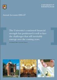 Year Ended 2007 - University of Birmingham