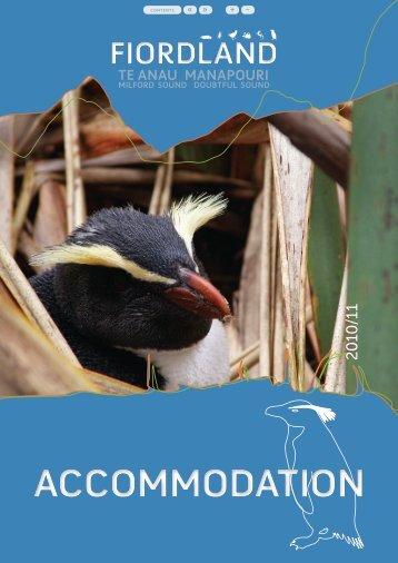 Fiordland Accommodation (3.6 MB) - Southern Lakes