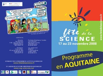 Programme FdlS - Cap Sciences