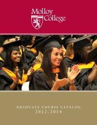 Graduate course catalog (2012-2014) - Molloy College