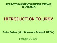Introduction to UPOV convention.pdf - The East Asia Plant Variety ...