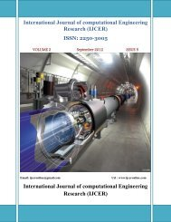 International Journal of computational Engineering Research ... - ijcer