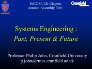 Systems Engineering : Past, Present & Future