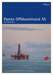 Pareto Offshoreinvest AS 2010 Kvartal 4 - Pareto Project Finance