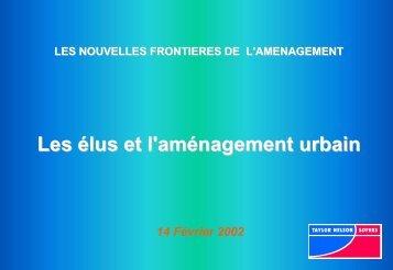 Les élus et l'aménagement urbain - Ramau