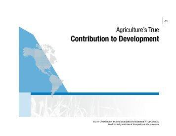 Contribution to Development - Instituto Interamericano de ...