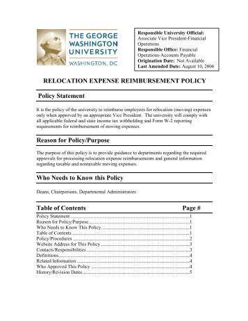 Policies thesis allowance policy