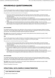 Household Questionnaire - Adapting to Climate Change in Coastal ...
