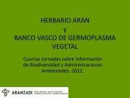herbario aran banco vasco de germoplasma vegetal - Gbif.es