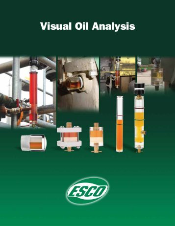 catalog of the Visual Oil Analysis Products - Esco Products, Inc.