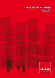 Memoria de actividad 2009 - Vipasa