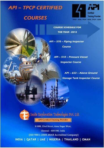 API Preparatory Course Schedule for the year 2013 - Iet-group.net