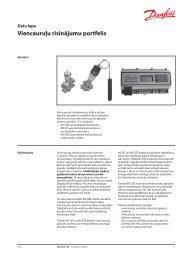 Viencauruļu risinājumu portfelis - Danfoss apkures portāls