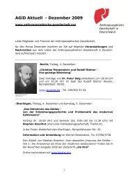 AGiD Aktuell - - Dezember 2009 - Anthroposophische Gesellschaft ...