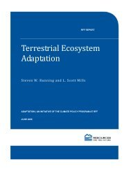 Terrestrial Ecosystem Adaptation - Resources for the Future