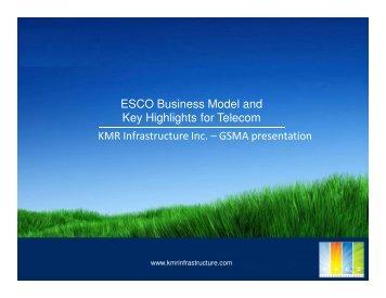 A Green ESCO Business model for telecom - GSMA